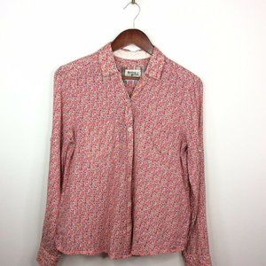Anthropologie Holding Horses Floral Crosshatch Top